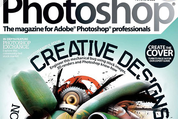 advanced photoshop magazine design cover