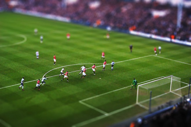best tilt shift photography sports stadium
