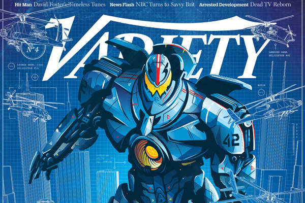 robot tech cover illustration design variety magazine