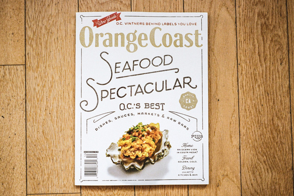 orange coast magazine cover artwork typography