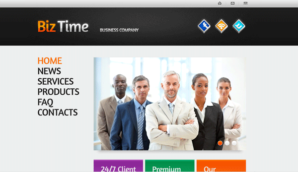 Business Time One Page HTML Template