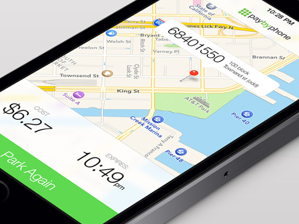 parking pay by phone mobile app gui preview screenshot