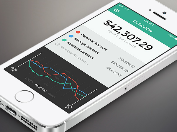 iphone app banking overview numbers stats