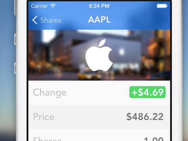 stocks and shares apple trading ios app ui