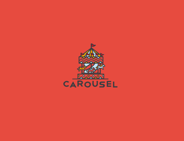Logo design inspiration #30 - Carousel by Filippo Marongiu
