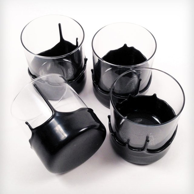 Creative product designs #46- Hand Dipped Whiskey Glasses by Manready Mercantile