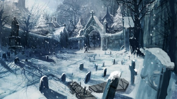 49 Winter in Cemetery  1920 x 1080