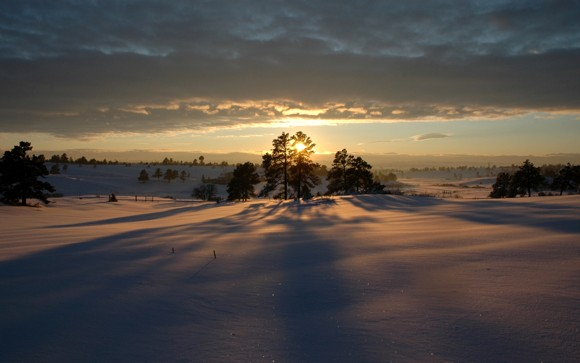 6 Good Morning winter- Snow Landscapes Wallpaper