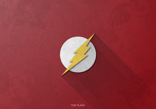 Superheroes logos with long shadow(The Flash)