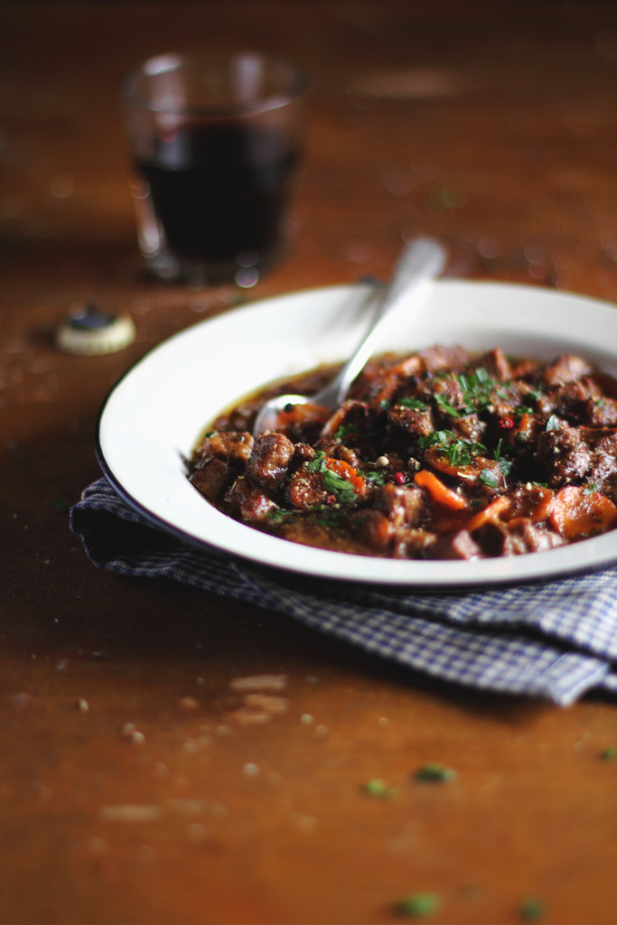 Food photography by Anna Kurzaeva - Beef and Guinness Stew