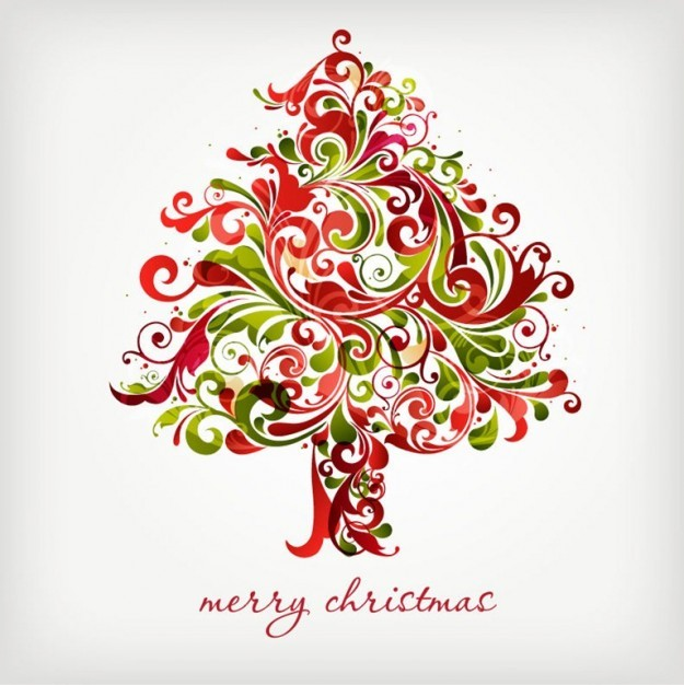 Christmas Tree floral vector Floral Design Object Christmas
