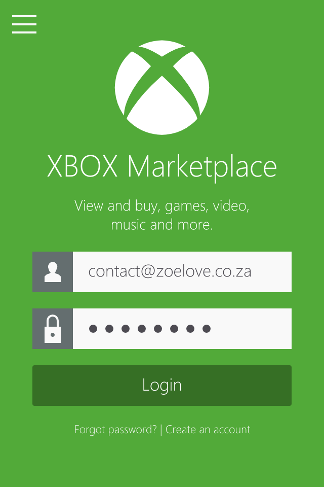 Flat UI design inspiration by Zoe Love - XBOX Marketplace Concept – Metro Style UI Design