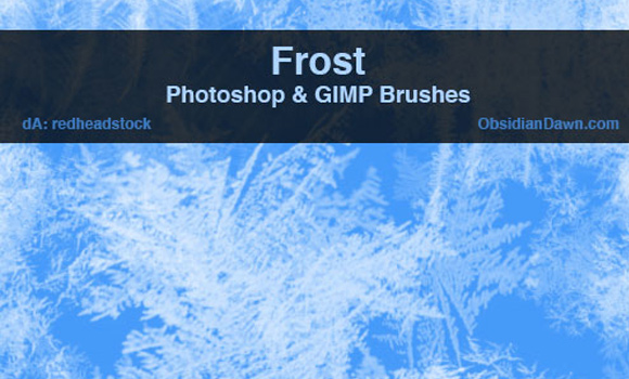 simple photoshop ice frost textures