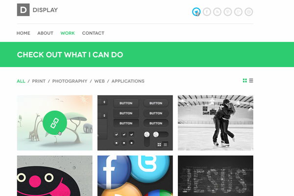 display portfolio psd freebie theme download