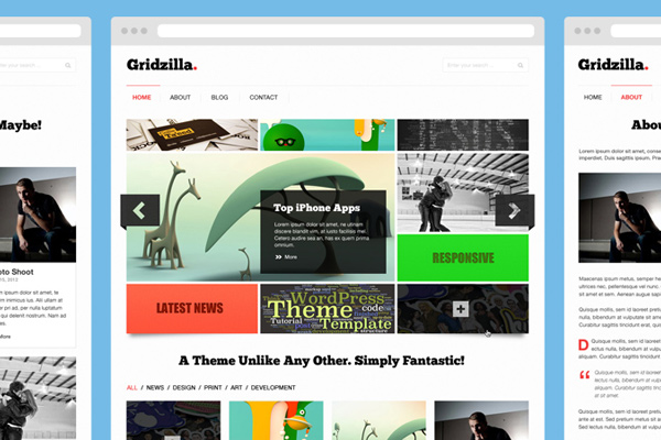gridzilla psd freebie portfolio theme download