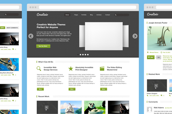 creativio agency freebie psd file download layout
