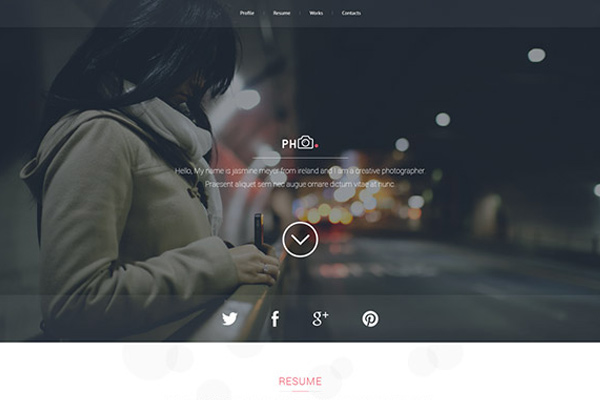 ph vcard portfolio psd freebie layout