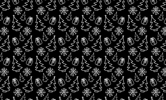 hand drawn christmas seamless patterns icons