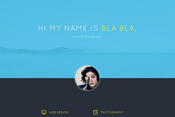 bla bla portfolio feebie psd layout download