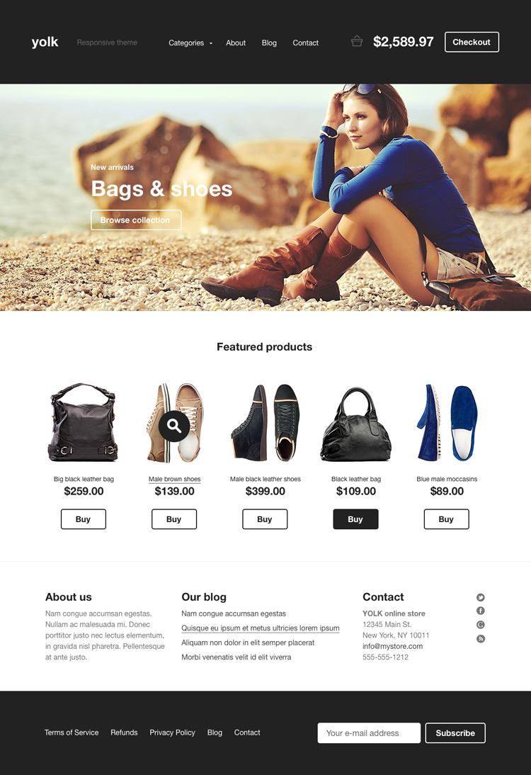 20 Amazing Examples of Flat Web Design - E-commerce template by Pawel Kadysz