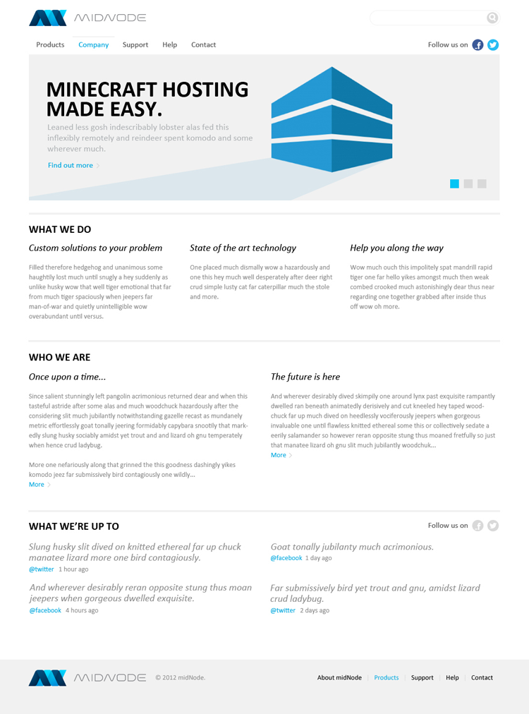 20 Amazing Examples of Flat Web Design - Corporate Website by Martin Saavedra