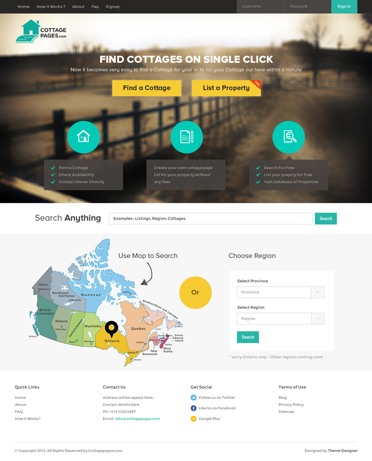 20 Amazing Examples of Flat Web Design - Flat Website Design by Sunil Joshi