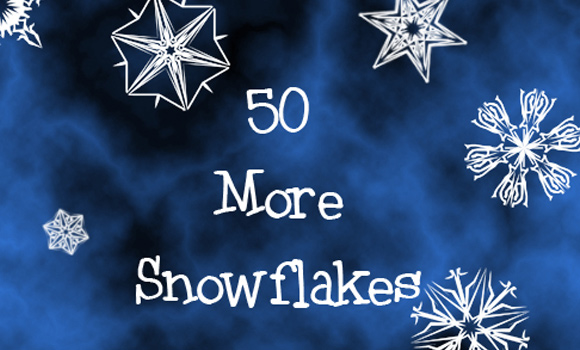 50 snowflake brushes download freebie winter graphics