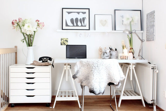 Elegant home office style 21 30 Creative Home Office Ideas: Working from Home in Style
