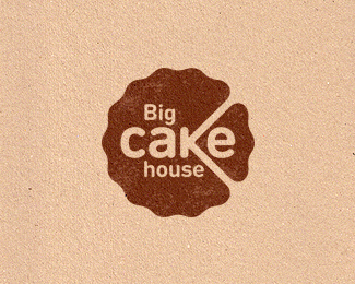Logo design inspiration #33 - Big Cake House by Konstantin Polyakov
