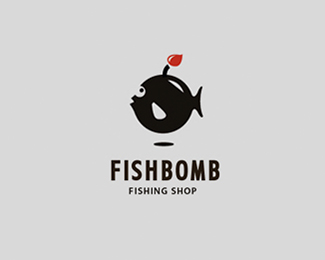 Logo design inspiration #33 - FISHBOMB by Belc