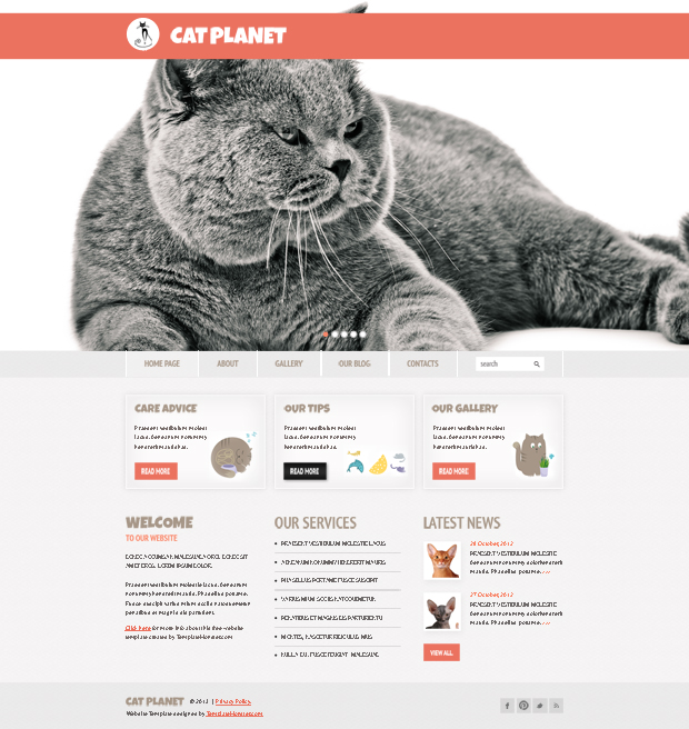 free website template1 Going Flat With 15 Free WordPress Themes