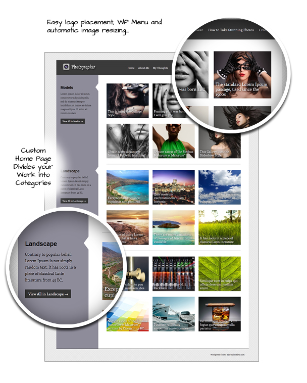 photographer11 Going Flat With 15 Free WordPress Themes