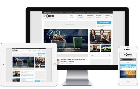 point wordpress theme1 Going Flat With 15 Free WordPress Themes