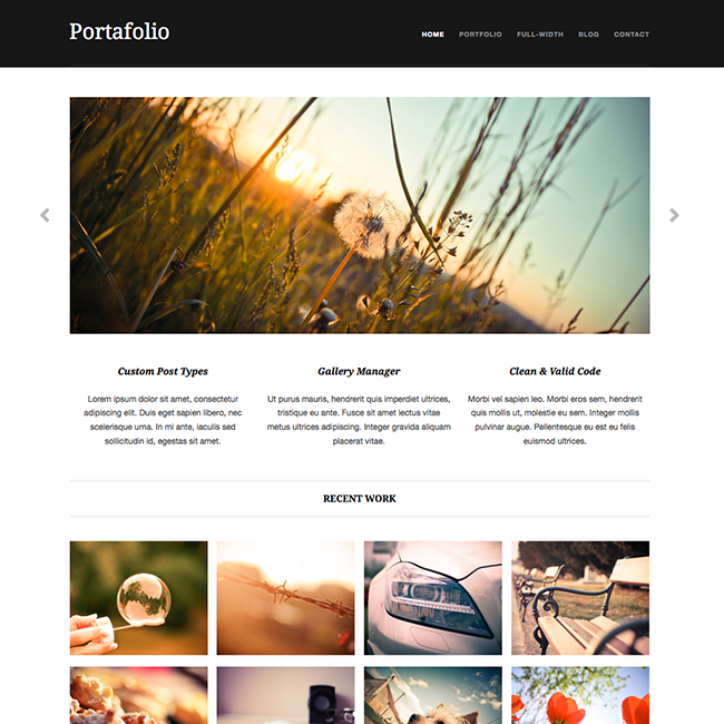 portafolio free portfolio wordpress theme1 Going Flat With 15 Free WordPress Themes