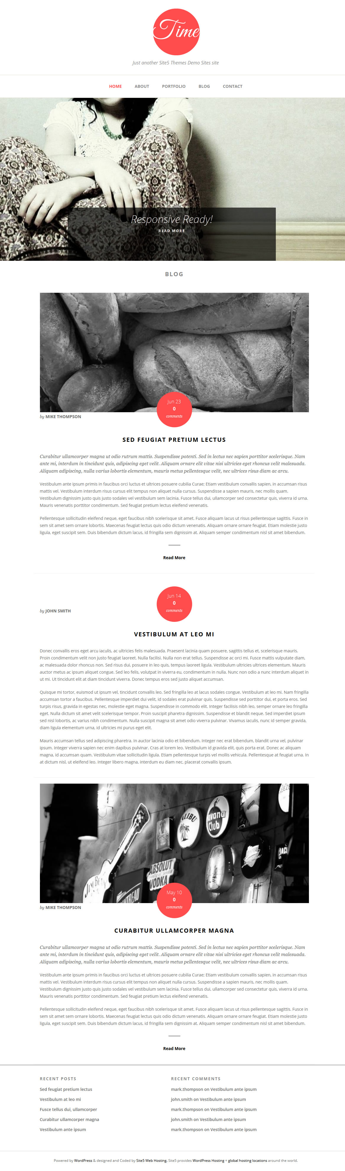 time large1 Going Flat With 15 Free WordPress Themes