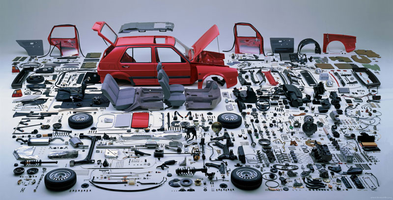 exploded view volkswagen golf mk2