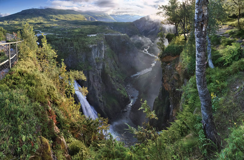 voringsfossen waterfall mabodalen norway