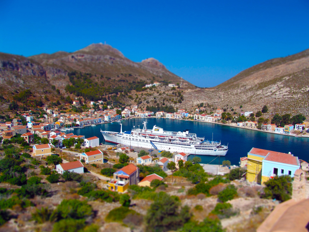 c/s Salamis Glory in the port of Megisti, Kastellorizo Island, Greece