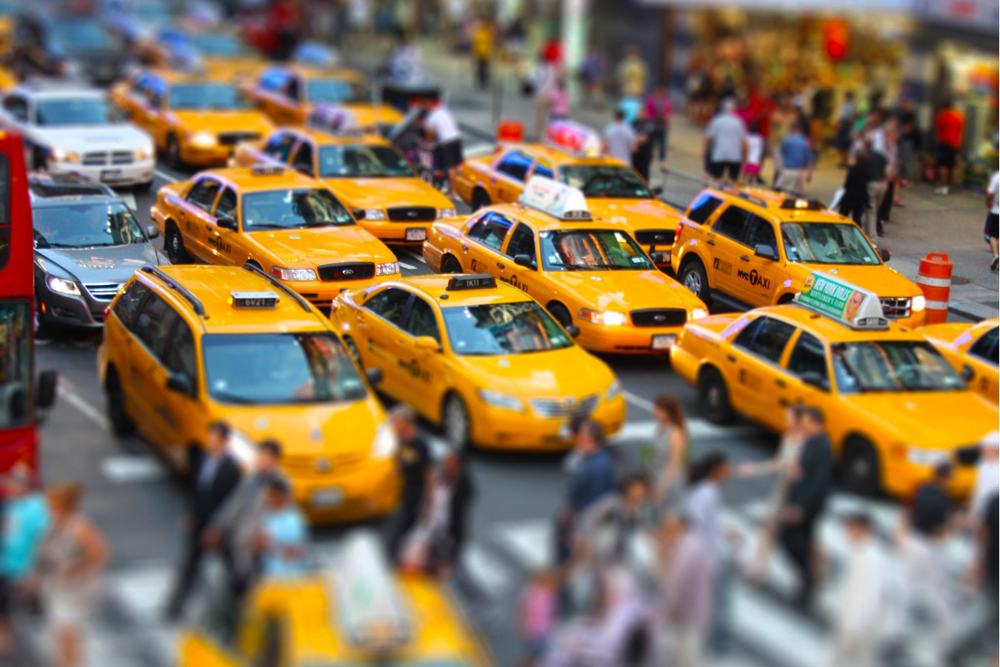 New York Yellow Cabs like toys