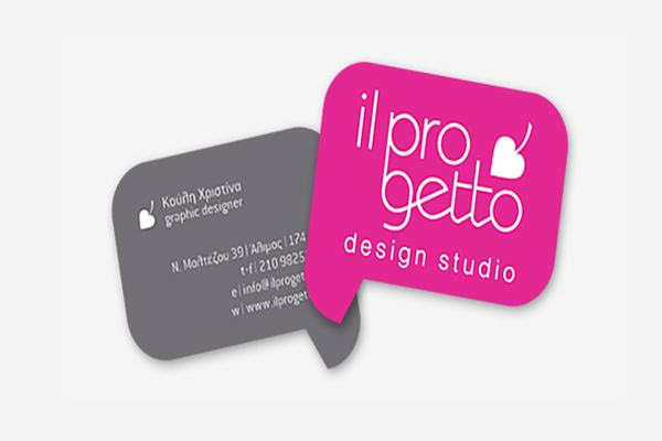 Progetto die-cut business card
