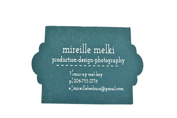 Mireillemelki Die-cut business card
