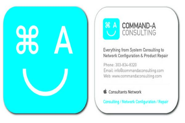 Command - A Consulting Company's die-cut business card