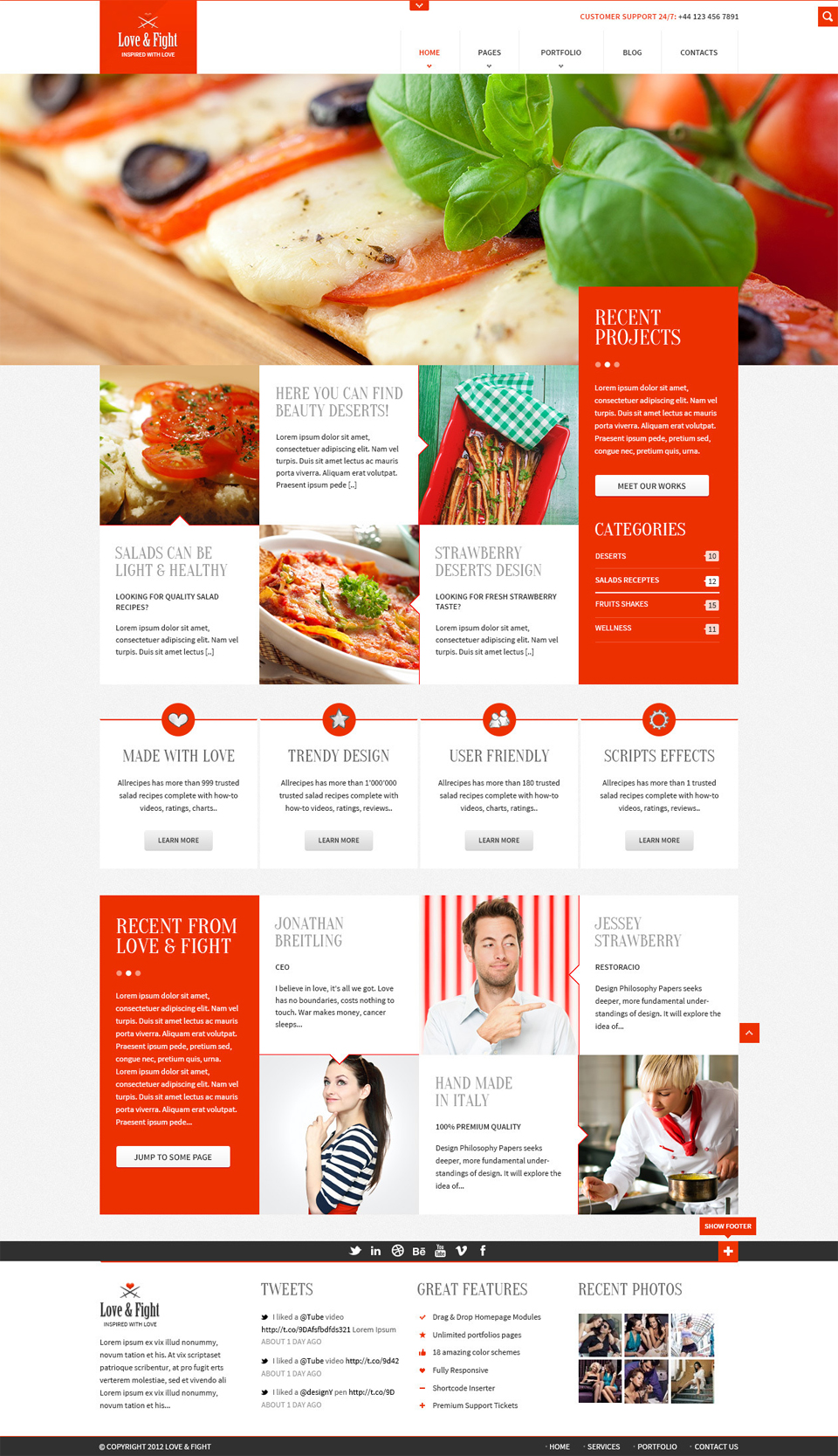 Free Restaurant Responsive Web Template