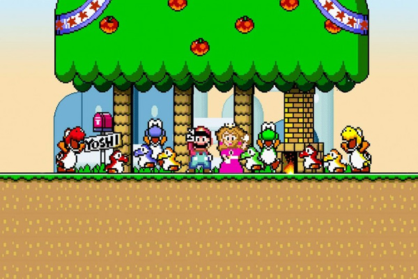 super mario world snes youtube channel background