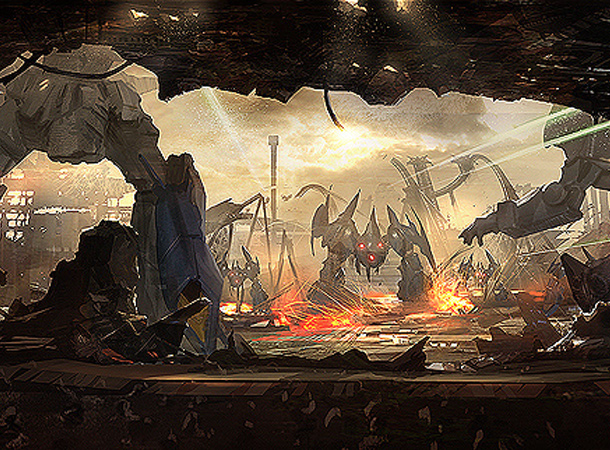 mech robot wars environment james paick