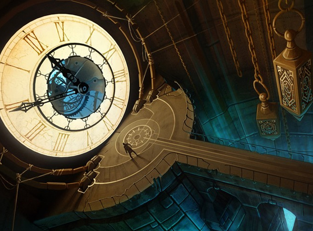clock tower interior room concept environment tomas muller