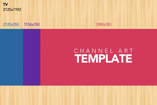simple youtube channel artwork background template