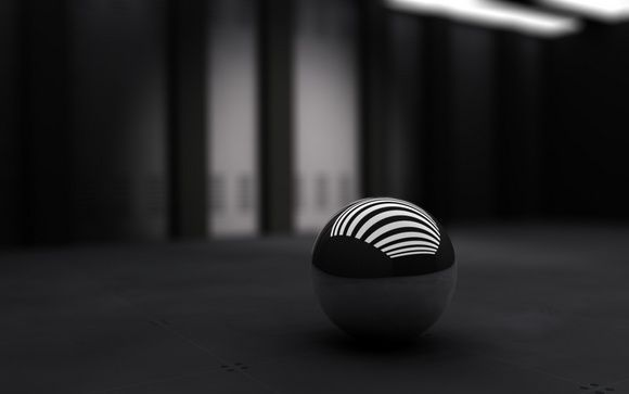 3d Ball Black Wallpaper