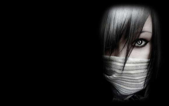 A veiled girl wallpaper.