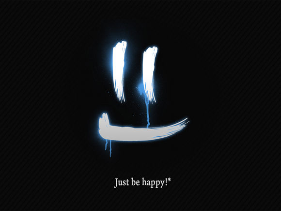 Be happy Black Wallpapers